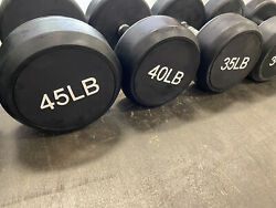 Rubber Dumbbell Set. 10 Lbs - 100 Lbs Complete Set 1.50 Per Pound