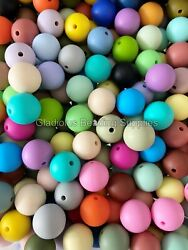 15mm Mixed Color Round Silicone Bead - Baby Teething - Diy Jewelry Bpa Free