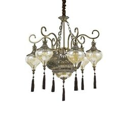 Chandelier Classic A 9 Lights Burnished With Crystals And Chai Collection Dl1562