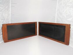 Vintage 7x17 Wood Vintage Sheet Film Holders. Set Of Two. Reconditioned To Gwo.
