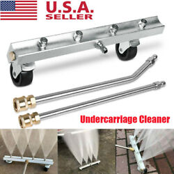 4000 Psi Pressure Washer Undercarriage Cleaner Under Car With 2 Extension Wands