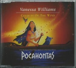 Vanessa Williams - Colours Of The Wind Pocahontas 1995 Uk 4 Track Cd Wd7677cd