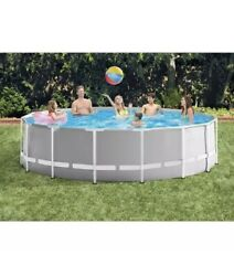 15ft X 48in Prism Metal Frame Above Ground Swimming Pool With Pump Ladder Cover