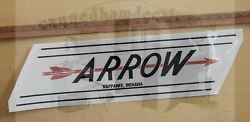 Arrow Vintage Style Travel Trailer Decal Red Black 22 Nappanee Indiana Set 2