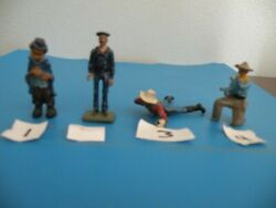 Hobo Sailor Cowboy Wounded Kneelin Britian Soldier Lead Toy 4style Pick 1 M24m27