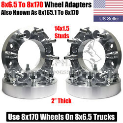 4 Wheel Adapters 8x6.5 To 8x170 Use Ford 8x170 Wheels On 8x6.5 Trucks 2 Thick