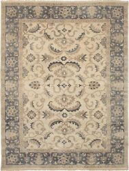 Hand-knotted Carpet 9'2 X 12'1 Finest Ushak Traditional Wool Rug