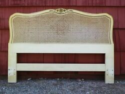 Vintage Henredon French Provincial Caned Headboard Full/queen Bed Shabby Chic