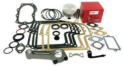 Fits Briggs And Stratton 8hp Engine Overhaul Rebuild Kit With Rod And Gaskets, Seals