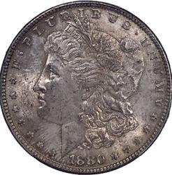 1880 O Morgan Dollar Ms 63 Pcgs Certified Lustrous Silver Antique Tone