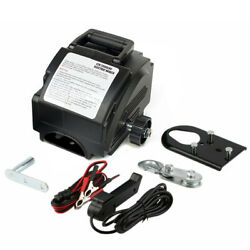 Portable 12v Electric Winch Power Winches Auto Truck Towing Hauling Tool 6000lb