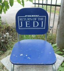Vintage 1983 Star Wars Return Of The Jedi Blue Childand039s Chair Great To Display