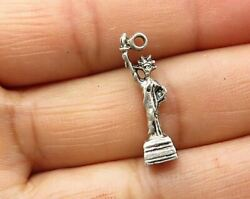 925 Sterling Silver - Vintage Petite Statue Of Liberty Charm Pendant - P5343
