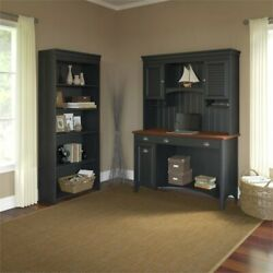 Pemberly Row 3 Piece Office Set In Antique Black