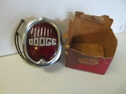 Vintage Dodge Truck Power Wagon 1940's License Plate Tail Light Nos