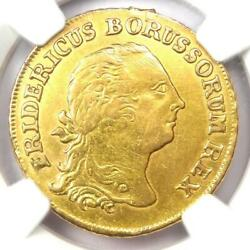 1756-a Germany Prussia Friedrich Ii Gold Frederick Dand039or Coin - Ngc Xf Detail