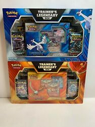 POKEMON TCG LEGENDARY TRAINER BOX SET HO OH AND LUGIA WITH 12 BOOSTER PACKS $109.99