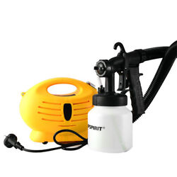 Electric Hvlp Paint Sprayer Gun 650w+compressor For Painting Cars Wall Furnature