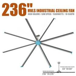 236 Inch Eight-blade Big Air Industrial Indoor Ceiling Fan 110v 60hz Durable