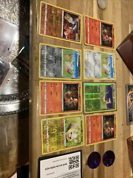 Pokemon Lot 8 Holos , 2 Codes , And 2 Pogs