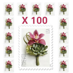 100 Pcs Usps Contemporary Boutonniere Flower Forever Stamps Mail Postage 2020 Us