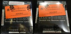2017 Rittenhouse Game Of Thrones Season 6 Factory Sealed Hobby Archive Box A And B