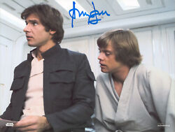 Harrison Ford Star Wars Authentic Signed 8x10 Topps Photo Bas Witnessed M89233