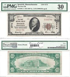 1929 National Currency Pmg Very Fine-30