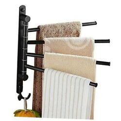 Towel Bars For Bathroom Wall Mounted Swivel Towel Rack 4-arm Oil Rubbed Bronze