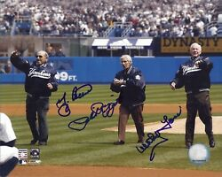 Berra Rizzuto And Ford N Y Yankees 8 X 10 Autographed Color Photo