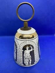 Vintage Fornasetti Porcelain And Brass Bell - In Good Condition Ref. 4