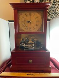 Vintage Mr Christmas Old Fashioned 10 Metal Disc Player Clock And Music Box Video