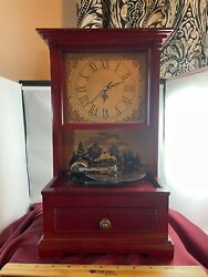 Vintage Mr Christmas Old Fashion 10 Metal Disc Playing Clock And Music Box Video