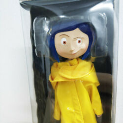 Coraline Yellow Raincoat Boots 7 Bendy Doll Action Figure Neca Collection New
