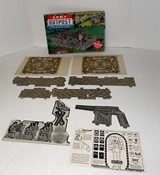 """Vintage 1940's Built-rite Toys Army Outpost The """"complete"""" Soldier Set"""