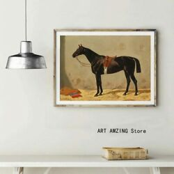 Vintage Thoroughbred Horse Poster Antique Horse Wall Decor Poster No Framed