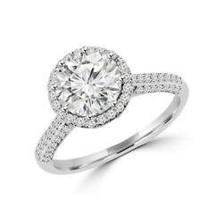 Solitaire Round 1.40 Ct Real Diamond Wedding Ring 950 Platinum Sizes Selective