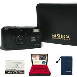 Vintage Yashica T4 Carl Zeiss T Tessar 35mm F/3.5 | T3 T5 W/ Case Manual Pouch