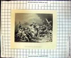 Old Battle Hastings Fighting Swords Axes Shields P Loutherbourg 1867victorian