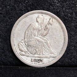 1837 Liberty Seated Dime - Small Date - Au Details 37041