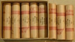 Lot Of 8 Original Unopened Bank Wrapped Bu Rolls Of 50 1952 Lincoln Cents