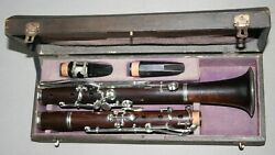 Very Good Antique 19th French 13 Keys Bb Clarinet Thibouville - Plays Well 440hz