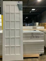 2and0398 18 Lite Primed Jeldwen Doors With Glass On A Pallet Ltl Possible