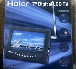 Haier Hlt71 7-inch Handheld Lcd Tv Portable Outdoor Car Camper Camp Television
