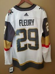 New 60 Marc Andre Fleury Adidas Mens 3x Jersey White Las Vegas Golden Knights