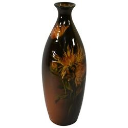 Rookwood Pottery 1895 Standard Glaze Yellow Floral Vase 796 Young