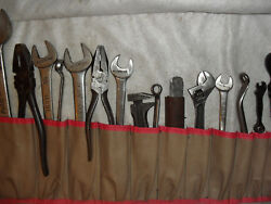 Rolls Royce Spanners And Wrenches In Tool Roll 19x Pcs. Genuine Rolls Royce Tools
