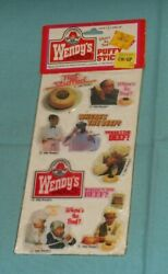Vintage Imperial Wendy's Fast Food Restaurant Puffy Stickers Where's The Beef