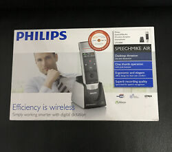 Philips Speechmike Air Wireless Dictation Microphone With Push Buttons Open Box