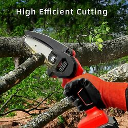 Mini Chainsaw 4-inch Cordless Electric Portable Chainsaw One-hand Portable Saw